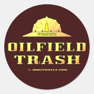 Oil Field Trash Hard Hat Sticker Black Gold Oil