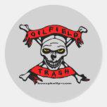 Oil Field Trash,Sticker,Skull,Jolly Roger,Oil Rigs