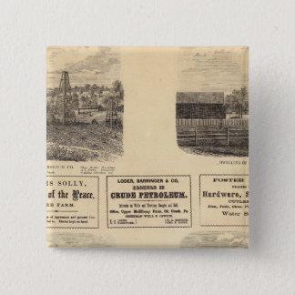 Oil fields, residence 15 cm square badge