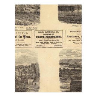 Oil fields, residence postcard
