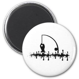 Oil Fish 6 Cm Round Magnet