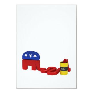 """Oil hungry Republicans - Invitation 5"""" X 7"""" Invitation Card"""
