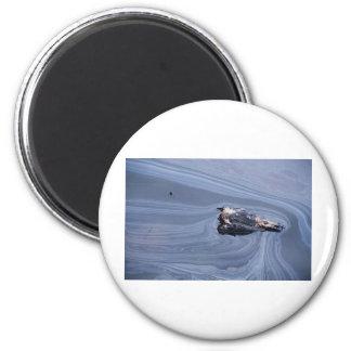 Oil in the Gulf 6 Cm Round Magnet