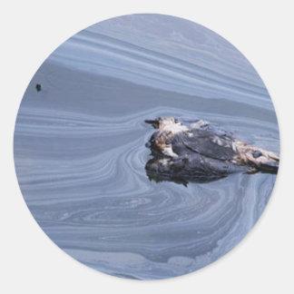 Oil in the Gulf Round Sticker