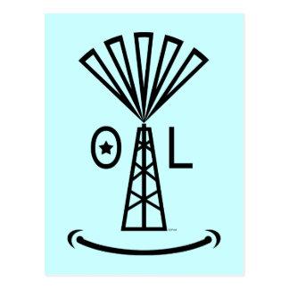 Oil Makes Me Smile Postcard