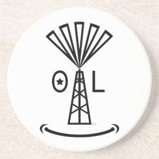Oil Makes Me Smile Sandstone Coaster