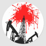 Oil of blood classic round sticker