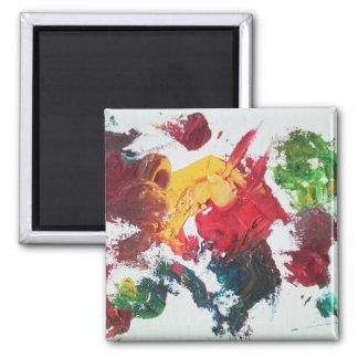 Oil Paint Red Palette Magnet