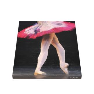 Oil Painted Ballet Dancer Canvas Wall Art Canvas Print