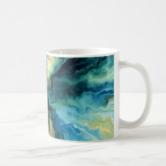 Oil painting abstract art illustration mug
