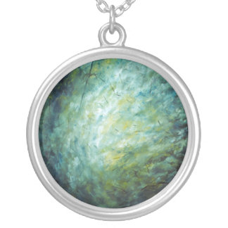 """Oil Painting """"Branches"""" Necklace"""