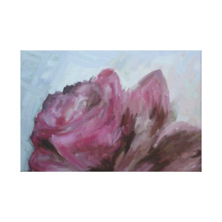 Oil painting, canvas, rose, flower canvas print