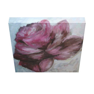 Oil painting, canvas, rose, flower gallery wrapped canvas