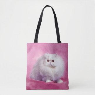 Oil Painting-Chip-Persian Cat-Tote Bag