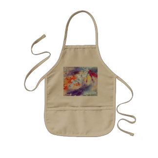 Oil painting flowers abstract kids apron