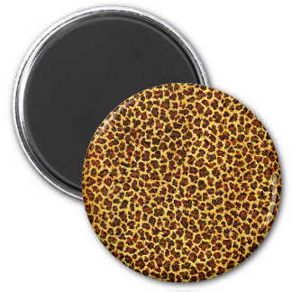 Oil Painting Look Leopard Spots 6 Cm Round Magnet