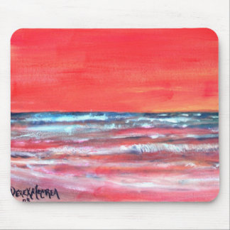 oil painting mouse pad modern abstract sun
