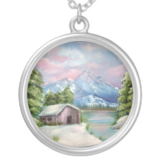 oil painting necklace