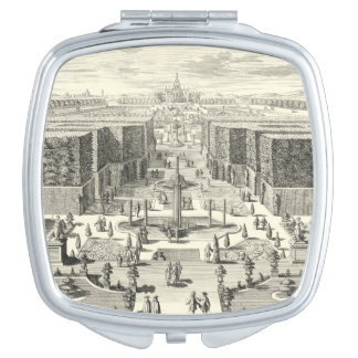 Oil Painting of Fountains at Garden of Versailles Compact Mirror