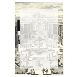 Oil Painting of Fountains at Garden of Versailles Dry Erase Board