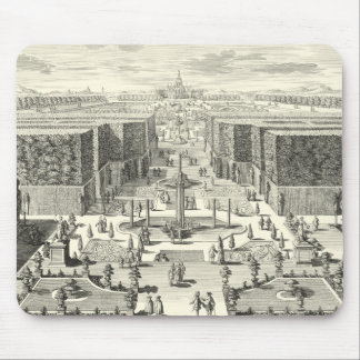 Oil Painting of Fountains at Garden of Versailles Mouse Pad