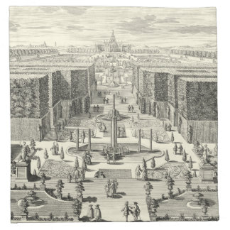 Oil Painting of Fountains at Garden of Versailles Napkin