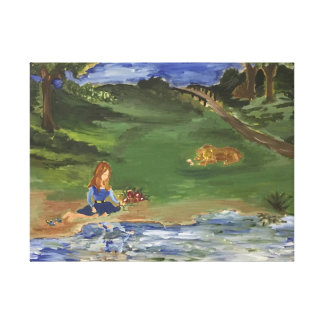 Oil Painting Original in print Day in The Park Sar