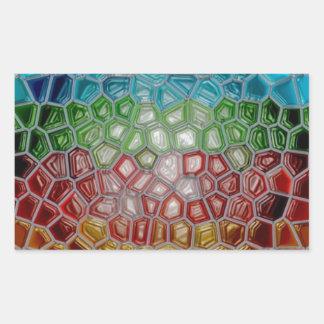 oil painting original modern abstract fine art rectangle sticker
