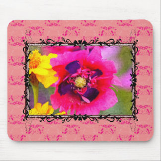 Oil painting poppy mouse pad
