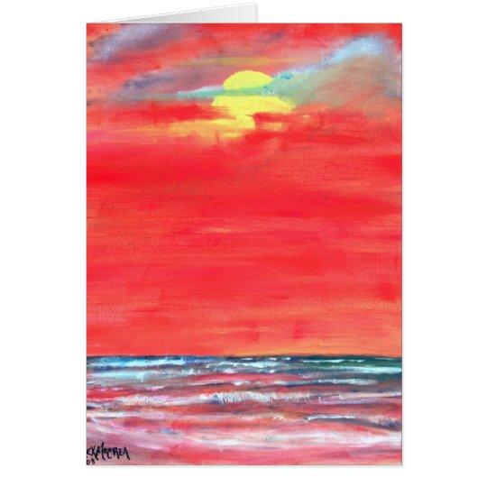 oil painting seascape beach art greeting card