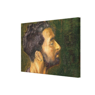 Oil painting - the head canvas print