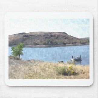 Oil Painting with Lake Mouse Pad