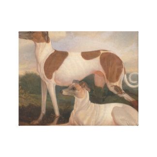 oil paintings of greyhounds canvas print