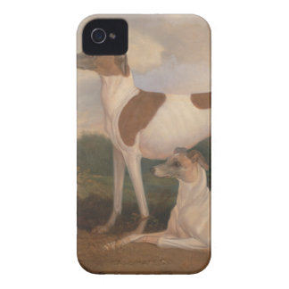 oil paintings of greyhounds iPhone 4 cover