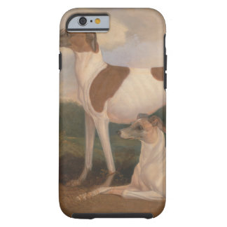 oil paintings of greyhounds tough iPhone 6 case