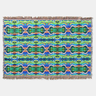 Oil Pastel Abstract Throw Blanket | Geometric