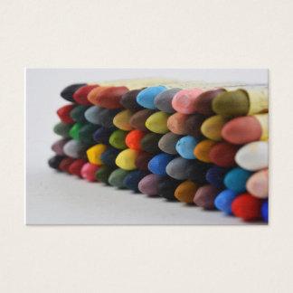 Oil Pastel Palette Card