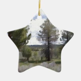 Oil Pastel Trees Ornament