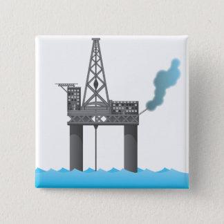 Oil Platform 15 Cm Square Badge