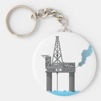 Oil Platform Keychain