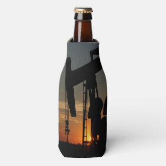 Oil Pump Jack At Sunset