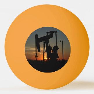 Oil Pump Jack At Sunset Ping Pong Ball