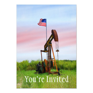 Oil Pump With American Flag Card