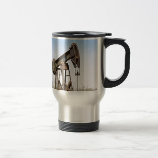 Oil Pumping Rig Stainless Steel Travel Mug