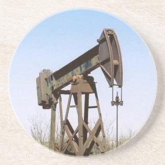 Oil Pumping Rig Sandstone Coaster