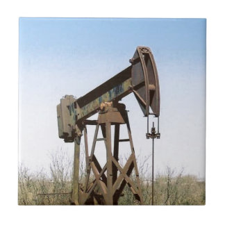 Oil Pumping Rig Small Square Tile