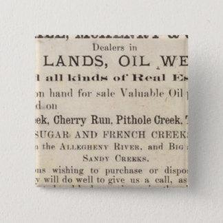 Oil Region of Pennsylvania 15 Cm Square Badge