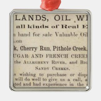 Oil Region of Pennsylvania Christmas Ornament