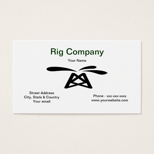 Oil Rig Business Card