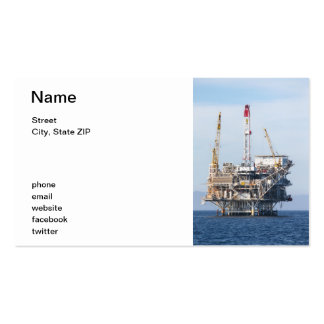 Oil Rig Double-Sided Standard Business Cards (Pack Of 100)
